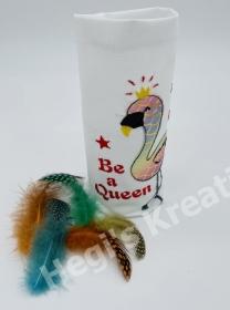 Lichterbeutel Windlicht Vasenhusse Geschenkebeutel Lichtsackel Be a Queen mit Applikation handgemachte Geschenke  - Handarbeit kaufen