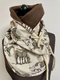 Wickelschal Loop Pferde Schal Schlaufenschal Kuschlig warm für Erwachsene und Teenager - Handarbeit kaufen