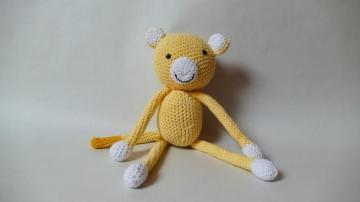 Niedlicher, gelber Affe mit Schlenker-Armen für Babys und Kinder ♥