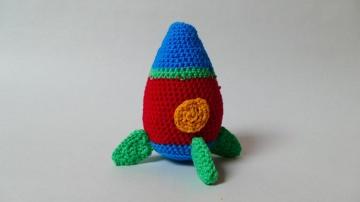 Bunte Raketen-Rassel für Babys und Kleinkinder ♥