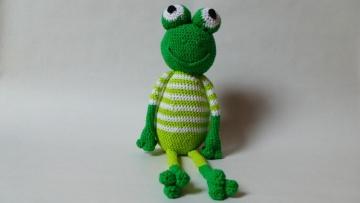 Grüner Frosch mit Schlenker-Armen und Beinen ♥