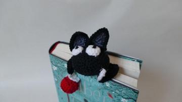 Niedliches, von Hand gehäkeltes Katzen-Lesezeichen ♥