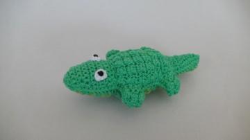 Gehäkeltes Krokodil zum Kuscheln für Babys und Kleinkinder ♥