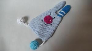 Blaues Hasen-Knistertuch für Babys ♥