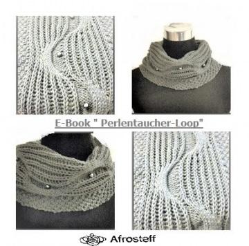 E-Book Strickanleitung Loop ★Perlen Taucher★ - gestrickter Loop mit eingearbeiteten Perlen