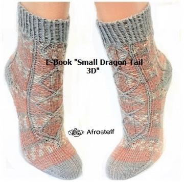 E-Book ★Small Dragon tail 3D★ Strickanleitung/ Sockenstrickmuster