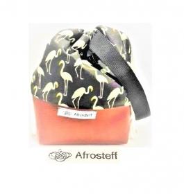 Kleine Handarbeitstasche mit Kunstleder, Projekttasche, projectbag knitting, Strandtasche, Wolle Aufbewahrung, Strickbeutel, Wolltasche