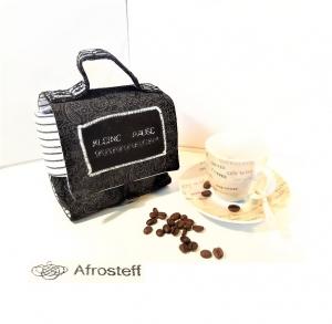 Kaffee-Tassen-Tasche/ Geschenktasche/ Gebäcktasche/ Geschenkidee/ Geschenkverpackung aus Stoff, genäht