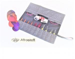 genähtes Strick- und Häkelnadeletui/ Aufbewahrung für Strick- und Häkelnadeln, Knit Pro Seilsysteme/ Nadelrolle