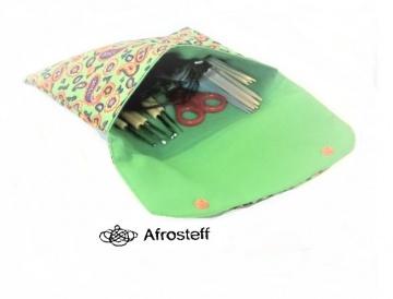 Tasche für Nadelspiel, Knit Pro Syst., Häkelnadeln ,genähtes Stricknadeletui/ Aufbewahrung für Stricknadeln, Knit Pro Seilsysteme