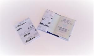 Reisepass-Hülle, genäht, Reisepass-Schutzhülle, Reiseetui, Passhülle