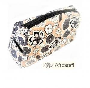 Kosmetiktasche groß mit 2 Reißverschlüsse/ Windeltasche/ Kulturbeutel, Stricktasche/ Handarbeitstasche
