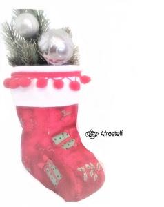 Nikolausstiefel  / Geschenktasche , Weihnachtsdekor, Tischdekor, Weihnachtstischdekor