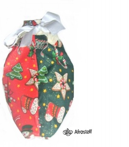 Nikolaussäckchen / Weihnachtsutensilo, genähtes Stoffsäckchen, Geschenkverpackung, Weihnachts Geschenkverpackung genäht, wendbar