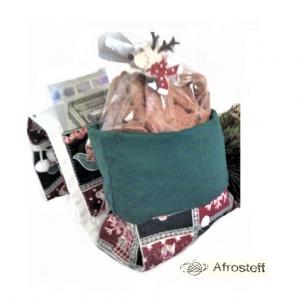 Weihnachts Geschenktasche/ Kaffee-Tassen-Tasche/ Geschenktasche/ Gebäcktasche/ Geschenkverpackung aus Stoff, genäht