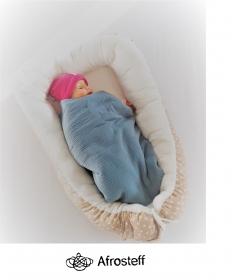 Babynest / Babyumrandung zum einpucken / Wickelunterlage / Baby Schlafnest / Umrandung für Kinderwagen, Wiege, Gitterbettchen