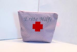 Reiseapotheke / Apotheke to go/ genähte Reiseapotheke/ Medizintasche/ Notfalltasche/ Erste Hilfe Tasche