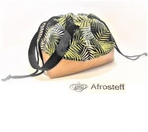 Handarbeitstasche mit Kunstleder, Projekttasche, projectbag knitting, Strandtasche, Wolle Aufbewahrung, Strickbeutel, Wolltasche, genäht