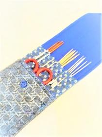 Tasche für Nadelspiel, Häkelnadeln/ genähtes Strick- und Häkelnadeletui/ Needlecase, Knit Pro Seilsysteme/ Nadelmappe