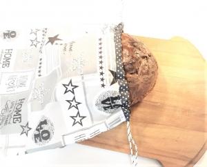 Brotbeutel aus Baumwolle genäht mit Zugband, Brottasche, Brötchenbeutel, Stoffbeutel für Brot und Brötchen in 2 Größen