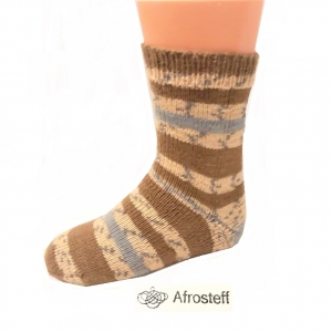 Kindersocken Gr. 33-35, gestrickt aus Sockenwolle mit atmungsaktiver Bambus-Viskose