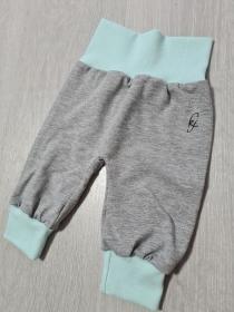 Babyhose / Pumphose in der Farbe Grau Aqua ♡ - Handarbeit kaufen