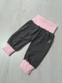 Babyhose / Pumphose in der Farbe dunkelgrau rosa ♡ - Handarbeit kaufen
