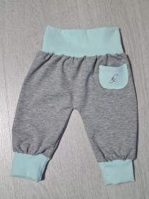 Babyhose / Pumphose in der Farbe grau und türkis mit Hosentasche ♡  - Handarbeit kaufen