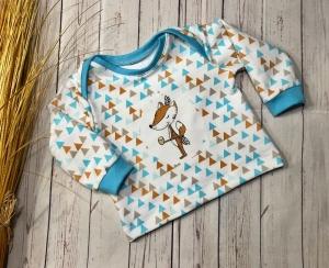 Pullover Baby Gr. 56 Bio-French Terry  - Handarbeit kaufen