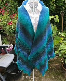 Schultertuch Stola *La Cascada* 100% Wolle - Handarbeit kaufen
