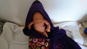 personalisierte Babydecke mit den Geburtsdaten