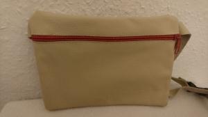 Gürteltasche aus Leder für ein Handy in beige (Größe L) - Handarbeit kaufen