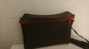 Gürteltasche aus Leder für ein Handy in dunkelgrau (Größe L)   - Handarbeit kaufen
