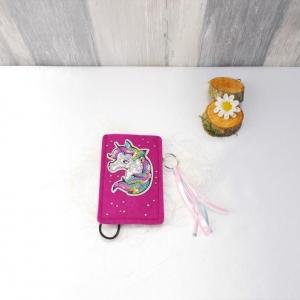 Universaltäschchen, kleine Tasche, Mäppchen, Einhorn, pink aus Filz,  - Handarbeit kaufen
