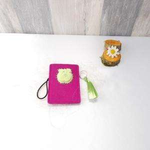 Universaltäschchen, kleine Tasche, Mäppchen, pink aus Filz, Apple - Handarbeit kaufen