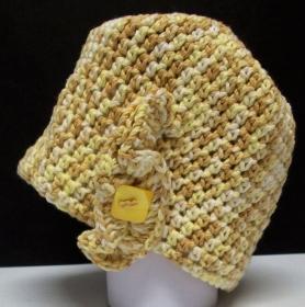 Mütze, modern, Handarbeit, beige-braun, Damenmütze, Mützen - Handarbeit kaufen