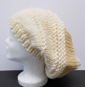 Mütze, Beanie Stil, Damenmütze, Mütze gehäkelt, Strickmütze, Mützen, beige - Handarbeit kaufen