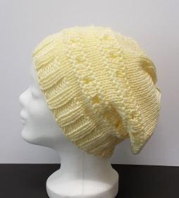 Mütze, Beanie-Stil, Damenmütze, Mütze gehäkelt, Strickmütze, Mützen, beige - Handarbeit kaufen