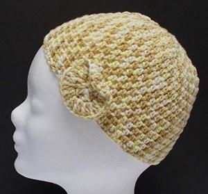 Mütze, Häkelmütze, Handarbeit, beige-braun-gelb, Damenmütze - Handarbeit kaufen