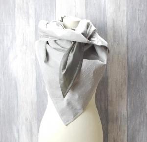 Dreieckstuch, Schaltuch, grau,  - Handarbeit kaufen