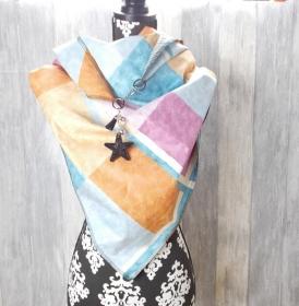 Dreieckstuch, Schal, Damenschal, bunt - Handarbeit kaufen