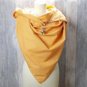 Dreieckstuch, gelb,  leicht, Schaltuch