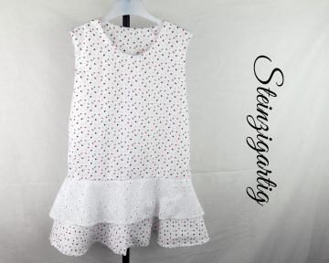 Modernes Ärmelloses Sommerkleid aus Baumwolle in Gr.98