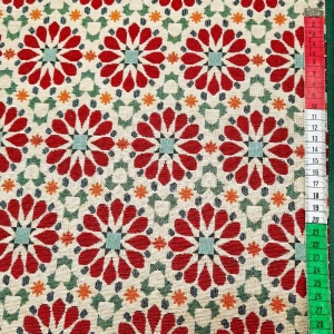 ☆  Gobelin  : Harmonie:   rostfarbene Rosetten  - Handarbeit kaufen