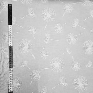 ☆ Dekostoff  :Pusteblume: auf hellgrauen Untergrund. Mischgewebe - Handarbeit kaufen