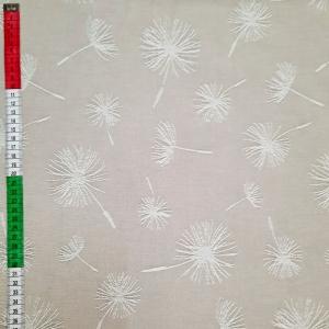 ☆ Dekostoff  :Pusteblume: auf beige Untergrund. Mischgewebe - Handarbeit kaufen