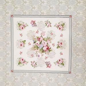 ☆ Gobelin  :Romanze: Paneele 1m x 1m,  mit romantischen Rosenbouquet , Tischdecken,  Mitteldecke,