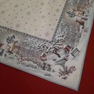 ☆ Gobelin : Winter im Park, 1m x 1m, Tischdecken,  Mitteldecke,  (Kopie id: 100288482)