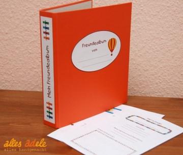 Freundebuch nach Maß - Ordner mit einzelnen Blättern - Fragen nach Wunsch!