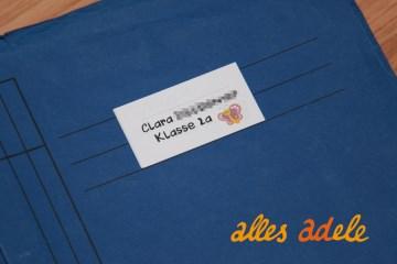 Heftaufkleber für die Schule mit Namen - 24 Stück - verschiedene Stile/Motive  - Tiere